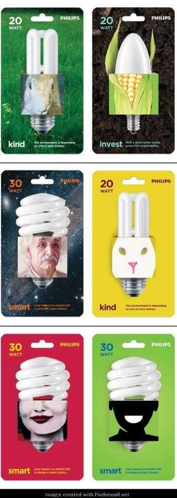Packaging per lampadine